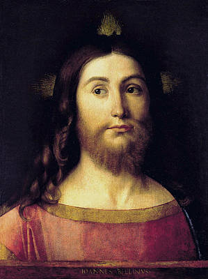 Redeemer Painting - El Salvador by Giovanni Bellini