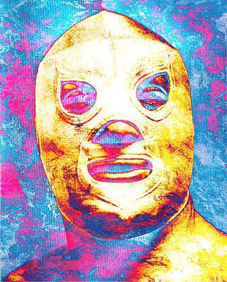Fight Digital Art - El Santo  by Jose Espinoza