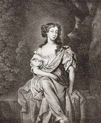 Seventeenth Century Drawing - Eleanor  Nell  Gwyn, 1650 by Vintage Design Pics
