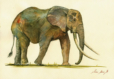 Elephant Painting           Original by Juan  Bosco