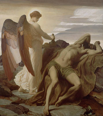 Elijah Painting - Elijah In The Wilderness by Frederic Leighton