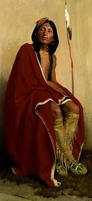 Fine American Art Painting - Elk-foot Of The Taos Tribe by Eanger Irving Couse