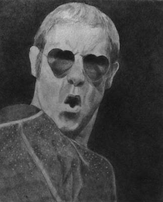 Elton John Drawing - Elton John by Glenn Daniels