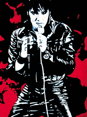 Elvis Painting - Elvis by Luis Ludzska