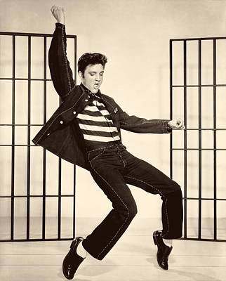 1950s Movies Photograph - Elvis Presley In Jailhouse Rock 1957 by Mountain Dreams