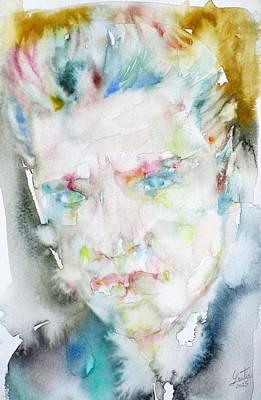 Elvis Presley - Watercolor Portrait.6 Original by Fabrizio Cassetta