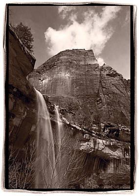 Emerald Pools Falls Zion National Park Print by Steve Gadomski