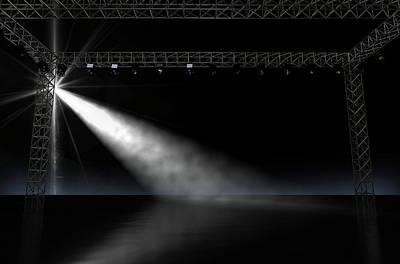 Music Recital Digital Art - Empty Stage Spotlit by Allan Swart