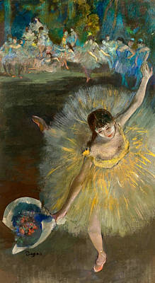 Bouquet Painting - End Of The Arabesque by Edgar Degas