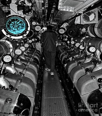 Royal Australian Navy Photograph - Engine Room Sc by Tim Richards
