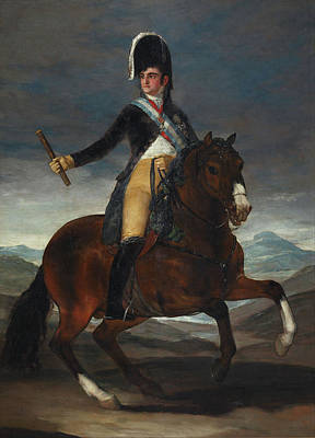 Romanticist Painting - Equestrian Portrait Of Ferdinand Vii by Francisco Goya