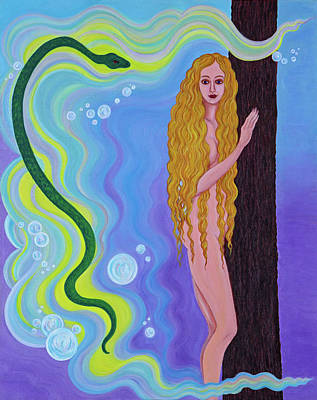 Eve And The Serpent Original by Tamar