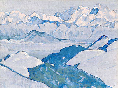 Blizzard Painting - Everest Range by Nicholas Roerich