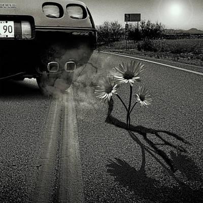 Cracks Digital Art - Exhausting Pipe Flowers by Marian Voicu