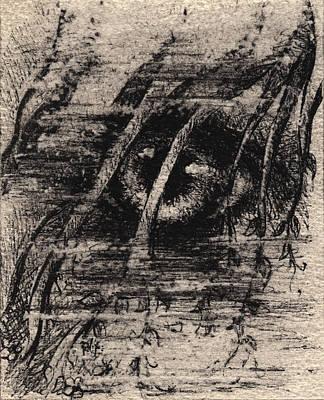 Tornado Drawing - Eye Of The Storm by Rachel Christine Nowicki