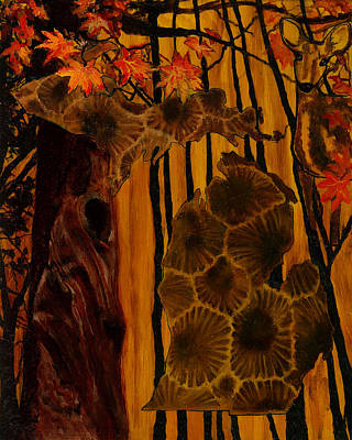 Michigan State Painting - Fall by Trisha Moran