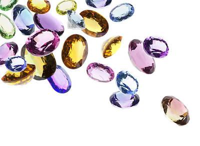 Gemstones Photograph - Falling Gems by Setsiri Silapasuwanchai