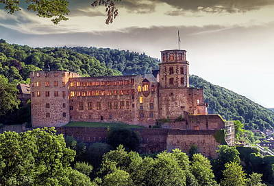 Photograph - Famous Castle Ruins, Heidelberg, Germany by Elena Duvernay