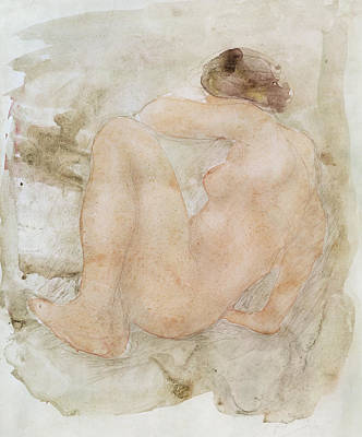 Female Nude Drawing - Female Nude by Auguste Rodin