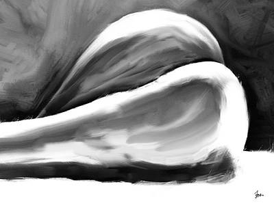 Nudes Digital Art - Female Study Nude 39 - Prints Up To 60 Inches by Sir Josef Social Critic - ART