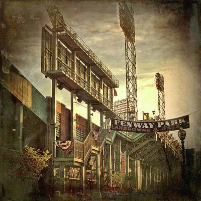 Boston Red Sox Photograph - Fenway Park - Lansdowne Street - Boston by Joann Vitali
