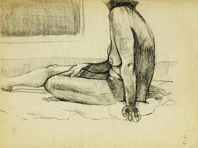 Figure Study Sketch Original by Erik Schutzman