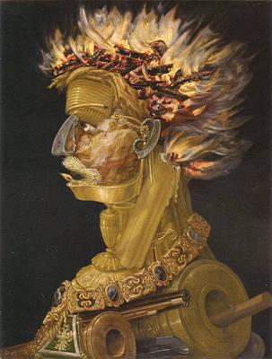 Giuseppe Arcimboldo Painting - Fire by Giuseppe Arcimboldo