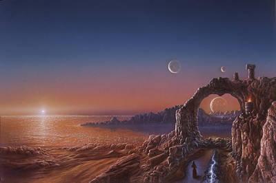 Moon Painting - Fire Sanctuary by Don Dixon