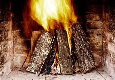Fireplace Print by Boyan Dimitrov