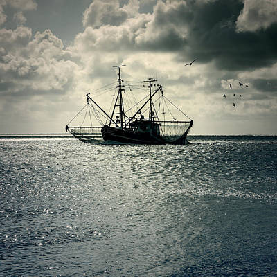 Fishing Boat Print by Joana Kruse