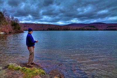 Hdr Photograph - Fishing Limekiln Lake by David Patterson