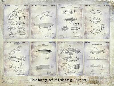 Cape Cod Photograph - Fishing Lure Patent History by Jon Neidert
