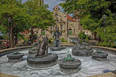 Five Points Fountain - Birmingham Alabama Print by Mountain Dreams