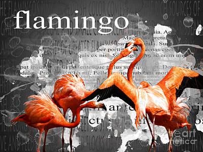 Flamingo Mixed Media - Flamingo by Methune Hively