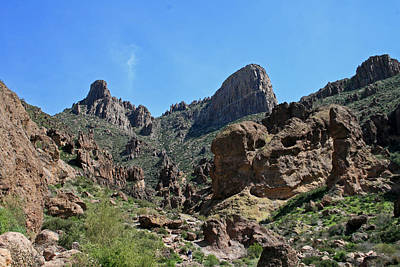 Flat Iron Superstition Mountains Print by Chuck Wedemeier