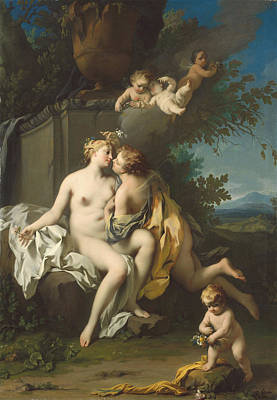 Jacopo Amigoni Painting - Flora And Zephyr by Jacopo Amigoni
