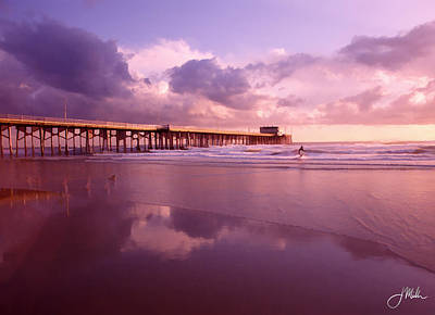 Florida Gold Coast Pier Print by Joshua Miller