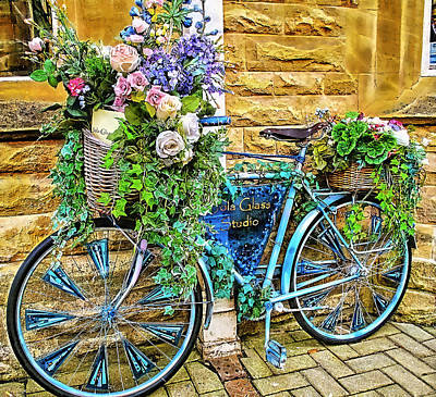 Bicycles Mixed Media - Flower Bike Collection by Marvin Blaine