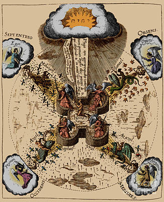 Macrocosm Photograph - Fludds System Of Health, 1631 by Science Source