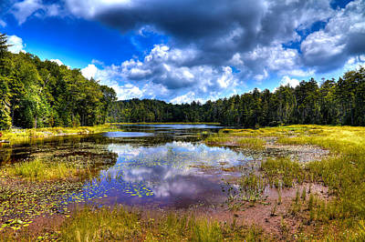 Landscape Photograph - Fly Pond In The Adirondack Mountains by David Patterson