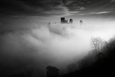 Fog In Pittsburgh  Print by Emmanuel Panagiotakis