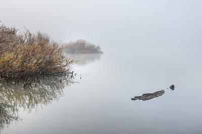 Birds Photograph - Foggy Sunrise  by Guido Montanes Castillo