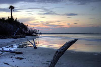 Folly Beach At Dusk Print by Dustin K Ryan