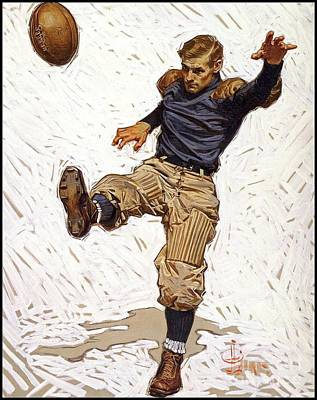 Christian Painting - Football Player by Joseph Christian