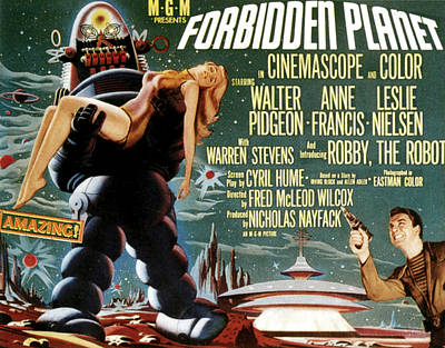 Forbidden Planet, Left Robby The Robot Print by Everett