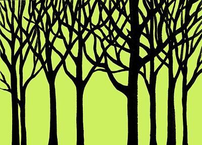 Dcor Painting - Forest by Irina Sztukowski