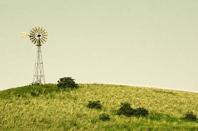 Copy Machine Photograph - Forlorn Windmill by Todd Klassy