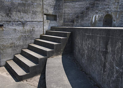 Fort Casey Steps 3939 Print by Bob Neiman