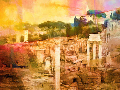 Old Age Painting - Forum Romanum by Lutz Baar