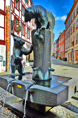 Fountain. Bernkastel-kues. Germany. Print by Andy Za